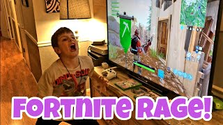Kid Rages On Fortnite After Daddy Tells Son To Do Homework - Almost First Fortnite Win