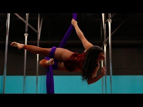 Xan Kaplan | Aerial Silks Performance | Wolf Song by Omnia