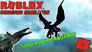 Roblox Dinosaur Simulator - 1K ROBUX FANS CHALLENGE! + Random Stuff and Things!