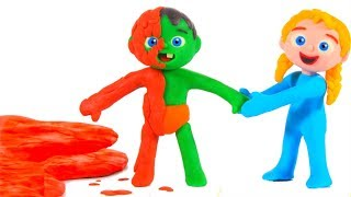 Kids Playing With Mud ❤ Cartoons For Kids
