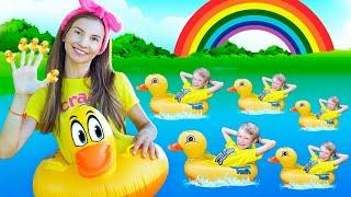 Five Little Ducks - Песенка про пять утят   Учимся Считать   Детские песни с Тимой и Есей