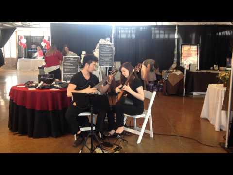 Masterful Musicians presents a casual video Robert & Laura,Classical guitar duet