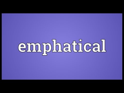Emphatical Meaning