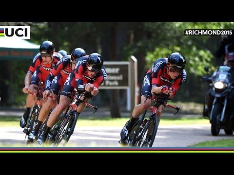 Men's Team Trial Highlights - 2015 Road World Championships, Richmond, USA
