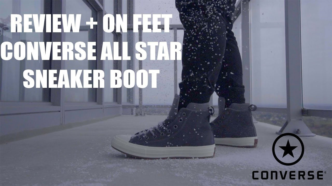 9ba98f8d1ef3a8 Review + On Feet   Converse Chuck Taylor All Star Boot - YouTube