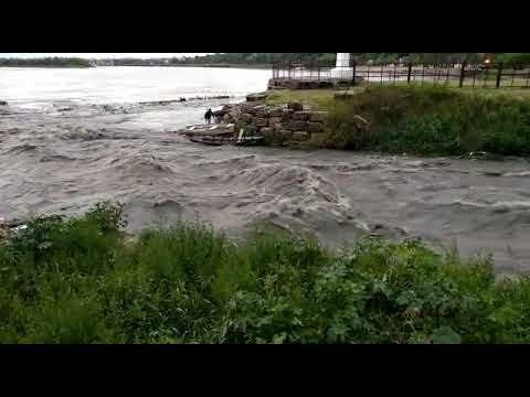 Desembocadura del arroyo Antoñico el día del accidente de Fiorella