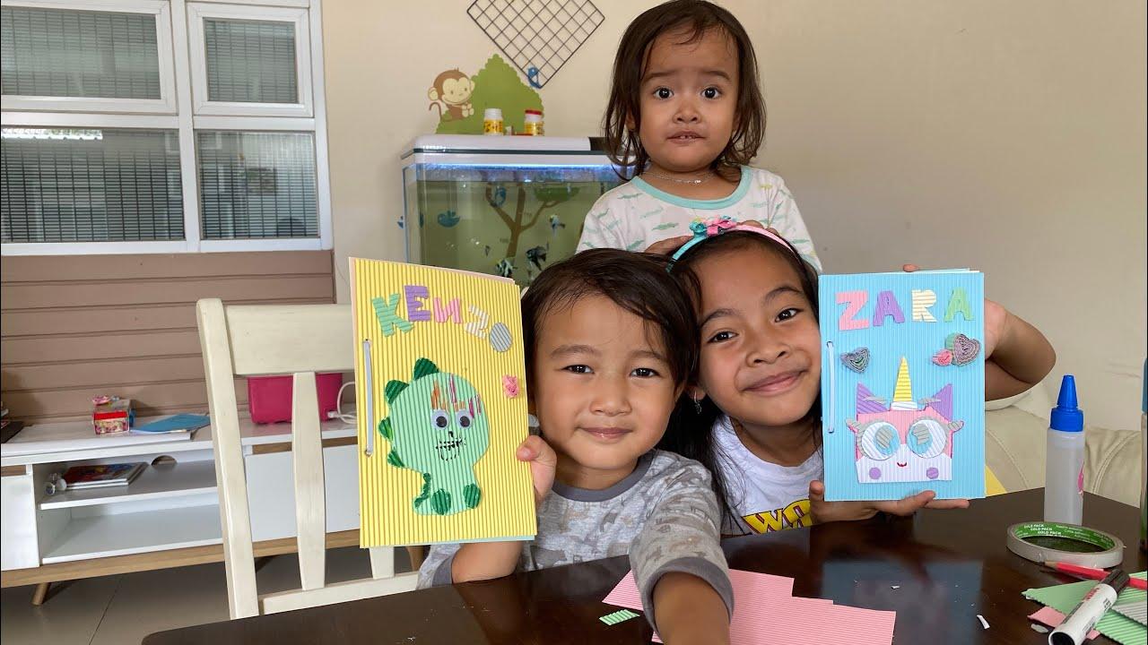 Persiapan Masuk Sekolah   Membuat Buku Tulis Unik sendiri untuk Sekolah   Prakarya Zara Cute