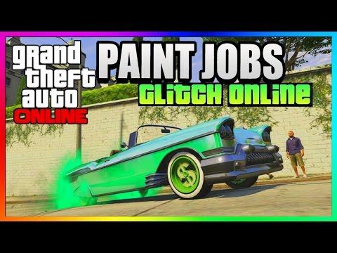 Gta 5 Online Insane Rare Paint Jobs Glitch Car Customization Guide Gta 5 Best Paint Jobs Youtube