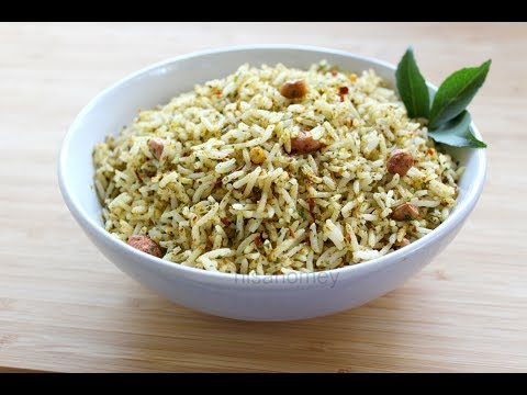 Curry Leaves Rice - Healthy Lunch Ideas - Indian Meal Recipes - Rice Recipes/Lunch Box Ideas