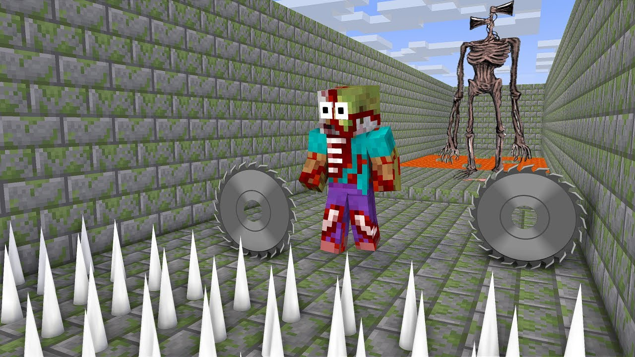 Canavar okulu : Siren kafası kısa ömürlü - Minecraft animasyonu
