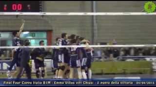 04-04-2015: Final4 Coppa Italia B1 - Il punto della vittoria della Emma Villas Vitt Chiusi ad Aversa