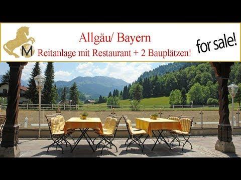 Reiterhof, Reitanlage mit Luxus-Restaurant + 2 Bauplätzen, Bayern, Allgäu zu verkaufen
