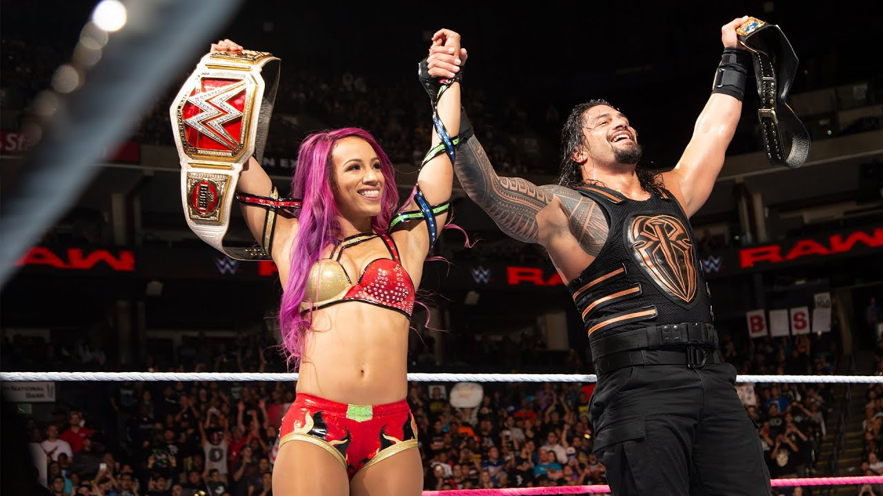 Download Roman Reigns and Sasha Banks form a winning team: Raw, Oct. 10, 2016