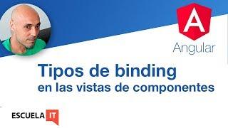 Tipos de binding en vistas de componentes Angular
