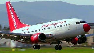 1 Hour Plane Spotting at Florence Airport - Aerei atterraggi e decolli Aeroporto di Firenze Peretola