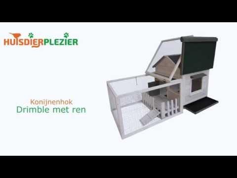 Huisdierplezier.nl | Konijnenhok Drimble met ren | Konijnenhok bouwen