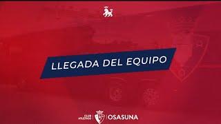 Llegada de Osasuna al José Zorrilla