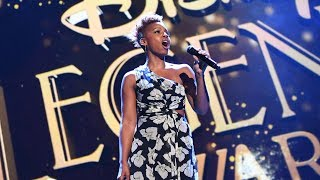 "Anika Noni Rose performs ""Go the Distance"" from Disney"