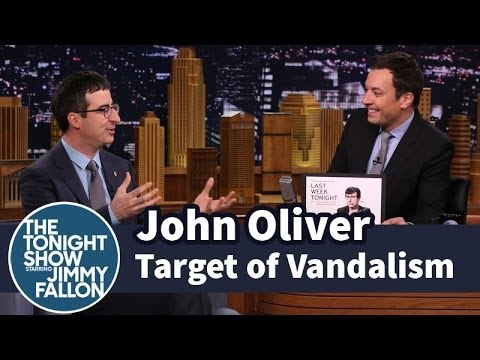 John Oliver Is a Target of Vandalism