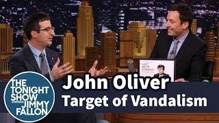 John Oliver Is a Target of Vandalism
