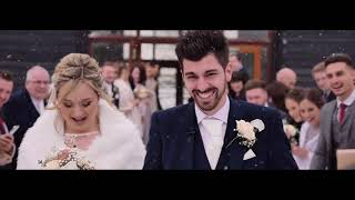 Laura & Joe white wedding Trailer