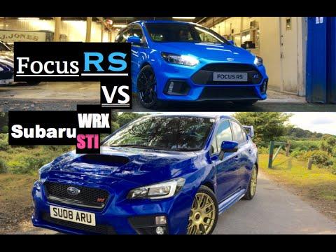 2016 ford focus rs vs subaru wrx sti comparison inside lane youtube. Black Bedroom Furniture Sets. Home Design Ideas