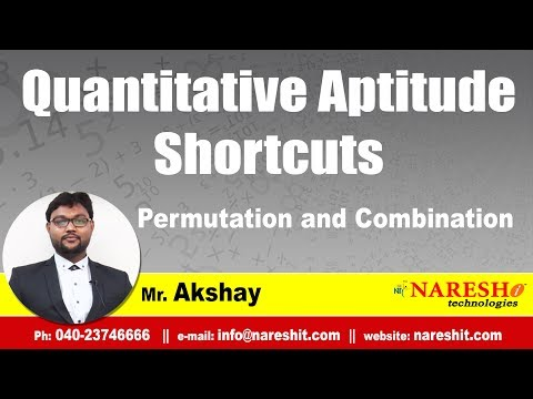 Permutation and Combination | Quantitative Aptitude Shortcuts Tutorial | Mr. Akshay