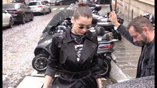 EXCLUSIVE : Bella Hadid coming out of a fitting in Paris