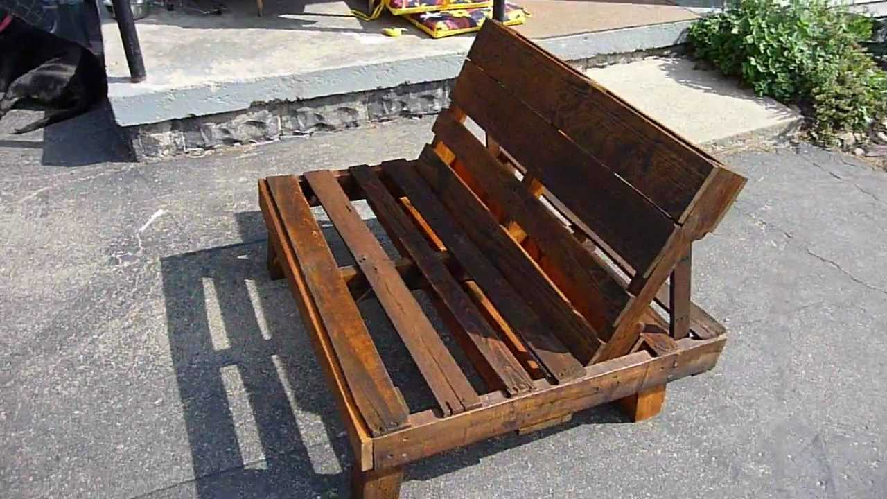 Pallet chair youtube Chairs made out of wooden pallets