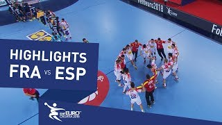 Highlights | France vs Spain | Men's EHF EURO 2018