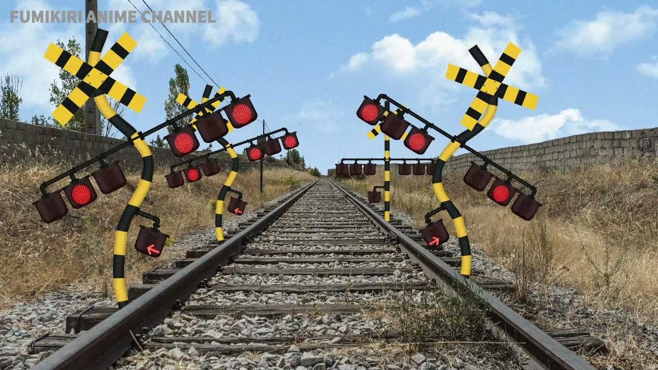 合体・増殖するふみきり Various Railroad Crossing and train. railway level crossover. 踏切 踏み切り 電車 ふみきり アニメ