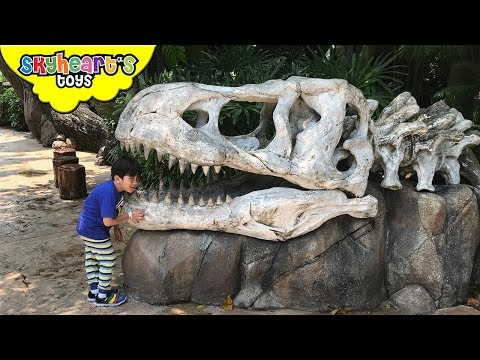 BABY TRICERATOPS in Jurassic Park - Universal Studios Theme Park Dinosaurs for kids Jurassic World