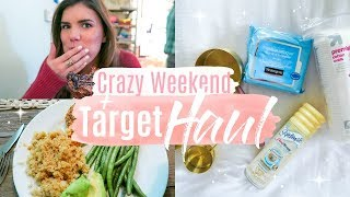 Target Haul + Simple Dinner Idea | Crazy Busy Weekend!
