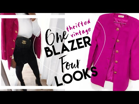 LOOKBOOK STYLE | #THRIFTED #VINTAGE BLAZER 4 WAYS (Spring, Summer, Autumn, Winter) | CANVAS FASHIONS thumbnail