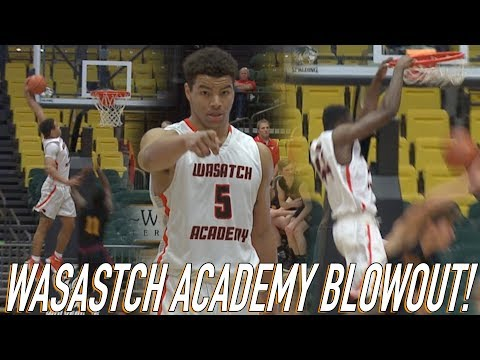 Matt Bradley Shows Off VERTICAL In Wasatch Academy's First Game of the Season