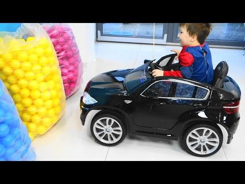Baby Balls Learning Colors with Balls and cars for kids ride on