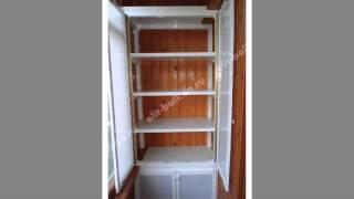Алюминиевый шкаф с поликарбонатом от