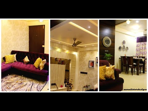 LIVING CUM DINING INTERIORS FOR 2BHK APPARTMENT | COMPLETED PROJECT DIARIES #8