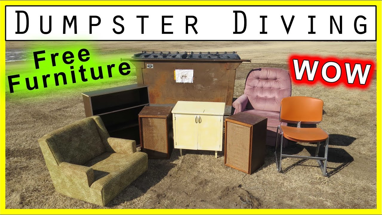 Dumpster Diving At Thrift 236 Free Furniture