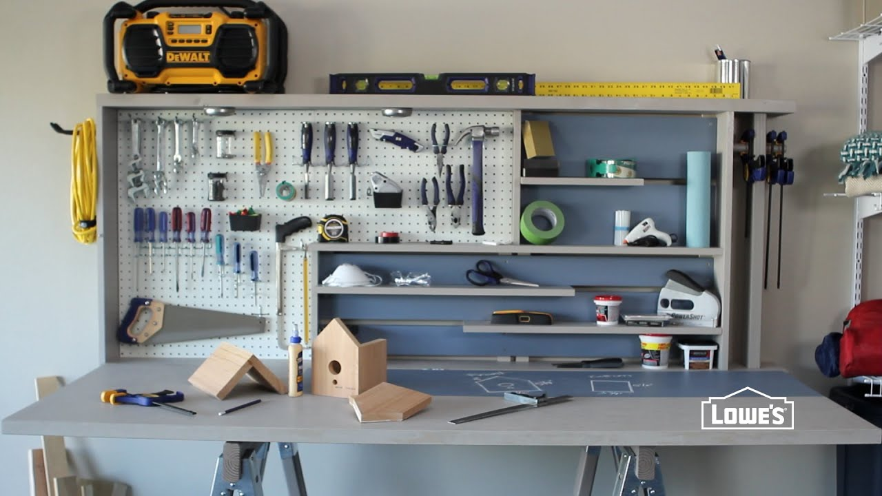 How to Build a Garage Workbench YouTube – Garage Work Bench Plans