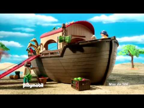 Spot tv playmobil arca de noe 5276 2014 youtube for Arca de noe playmobil