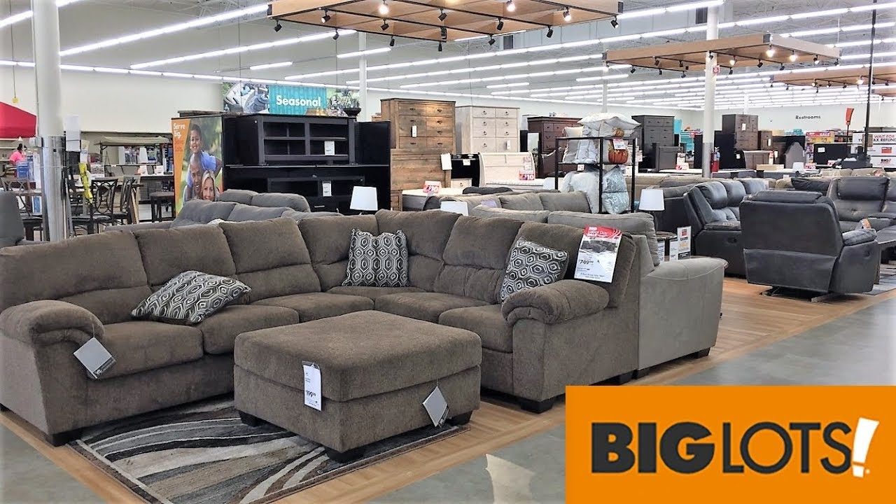 BIG LOTS FURNITURE SOFAS COUCHES ARMCHAIRS HOME DECOR - SHOP WITH ME  SHOPPING STORE WALK THROUGH 5K