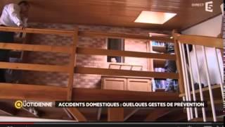 Installation d'un détecteur de fumée sur France 5