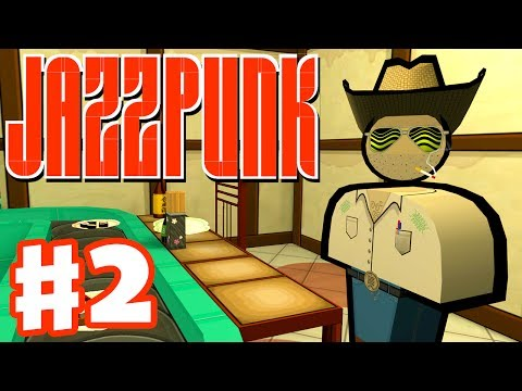 Jazzpunk - Gameplay Walkthrough Part 2 - Cowboy's Kidney (PC Indie Game)