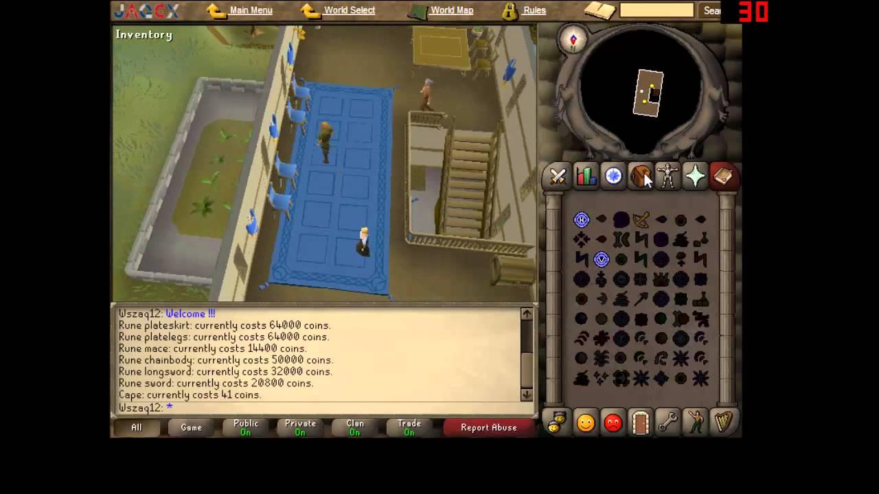Runescape 07 Were To Buy Rune Armourweapons Wszaqtwins Youtube