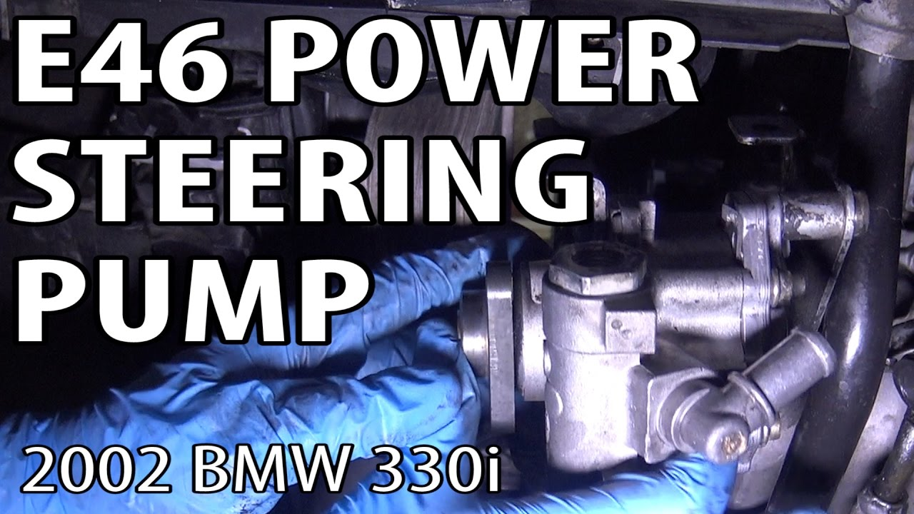 Bmw 330i 325i E46 Power Steering Pump Replacement Youtube Mount Fuel Filter Electric Cooling Fan