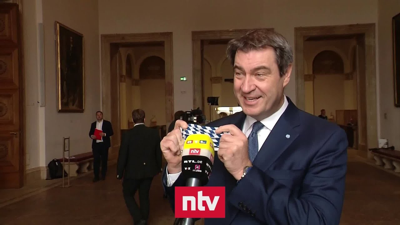 Söder erklärt Maskenpflicht in Bayern | ntv - YouTube