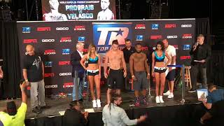 Top Rank fighters hold weigh-in for boxing showcase at the UNO Lakefront Arena