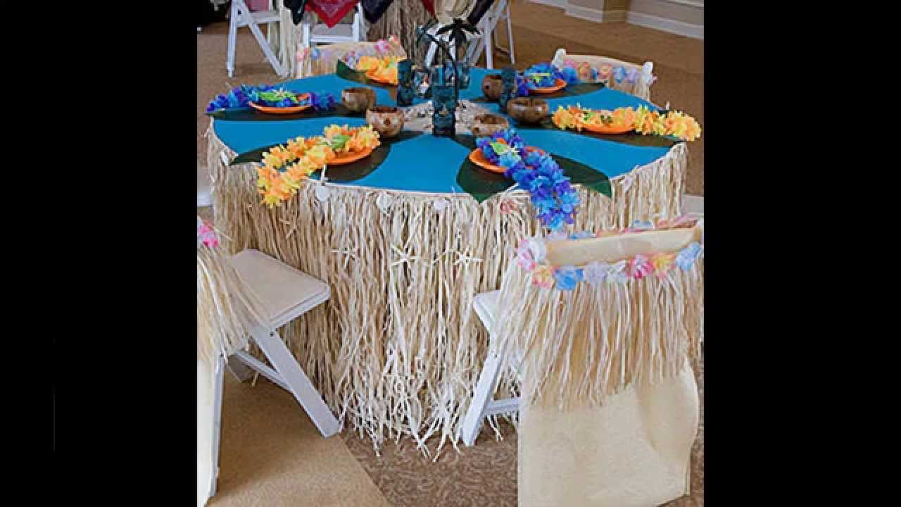 Hawaiian Theme Party Decoration Ideas Part - 47: Simple Luau Party Decorations Ideas - YouTube