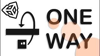 ONE WAY COLLISION PLATFORMS - EASY UNITY TUTORIAL